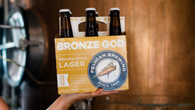Photo of Back and now available in 12-ounce bottles and on draught, Pelican Brewing releases Bronze God Märzen-style Lager.